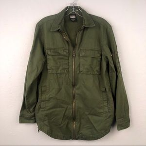 Rebel Minds Womens Small Military Jacket Green